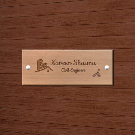 Engraved Wooden Name Plate -Professional